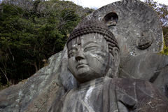 The face of the Daibutsu Royalty Free Stock Images