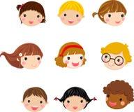 Face das crianças dos desenhos animados ilustração stock