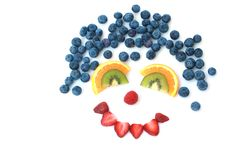 Face das frutas Foto de Stock Royalty Free