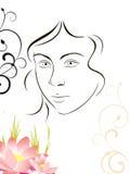 Face de Beuty Ilustração Royalty Free