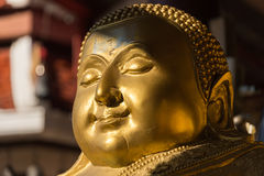 Face de Buddha dourado Imagens de Stock