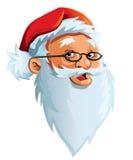 Face de Papai Noel Imagens de Stock
