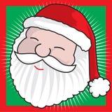 Face de Papai Noel Fotografia de Stock Royalty Free