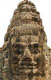Face de pedra no templo de Bayon Fotografia de Stock Royalty Free