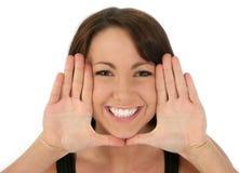 Face de quadro da mulher bonita Imagem de Stock