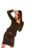 Face de quadro da mulher de negócios Imagem de Stock Royalty Free
