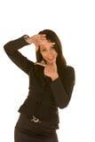 Face de quadro da mulher de negócios Fotografia de Stock Royalty Free
