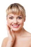 Face de sorriso da mulher Foto de Stock