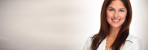 Face de sorriso da mulher nova Fotografia de Stock