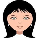 Face de sorriso de uma menina ilustração do vetor