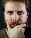 Face de um homem sério inteligente Imagem de Stock Royalty Free