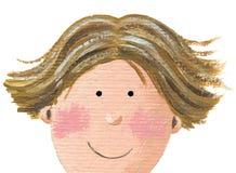 Face de um menino ilustração stock