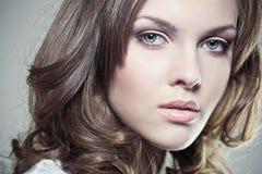 Face de uma menina 'sexy' Fotografia de Stock