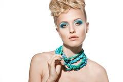 Face de uma menina 'sexy' com composição brilhante fotos de stock royalty free