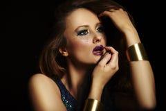 Face de uma mulher Foto de Stock Royalty Free
