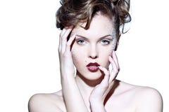 Face de uma mulher bonita fotografia de stock royalty free