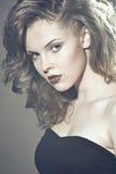 Face de uma mulher bonita foto de stock royalty free