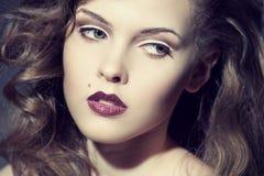 Face de uma mulher bonita fotos de stock royalty free