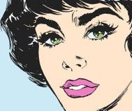 Face de uma mulher nova ilustração stock