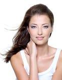Face de uma mulher nova bonita 'sexy' Imagens de Stock