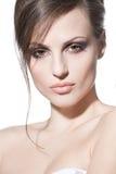 Face de uma rapariga bonita imagens de stock royalty free