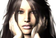 Face de Womans ilustração stock