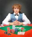Face the dealer Stock Image