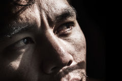 Face of depressed and hopeless man Royalty Free Stock Photo