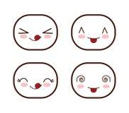 Face design. Icon set. Expression illustration. cartoon icon Stock Photo