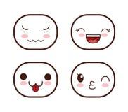 Face design. Icon set. Expression illustration. cartoon icon Royalty Free Stock Photo