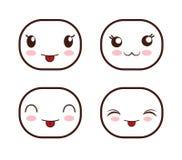 Face design. Icon set. Expression illustration. cartoon icon Royalty Free Stock Image
