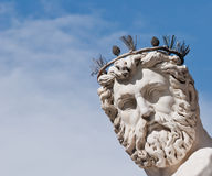 Face detail of Neptune's Statue Stock Photo