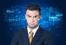 Face detection and recognition royalty free stock photos