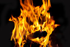 The face of a devil on fire Royalty Free Stock Images