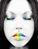 Face do arco-íris Fotografia de Stock