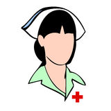 Face do avatar do vetor da enfermeira Imagens de Stock Royalty Free