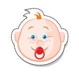 Face do bebê ilustração stock