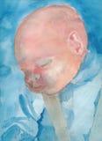 Face do bebê - retrato 5 ilustração stock