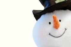 Face do boneco de neve isolada imagem de stock