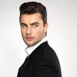 Face do close up de um homem de negócios da forma no terno Fotos de Stock