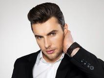 Face do close up de um homem de negócios da forma no terno Imagens de Stock
