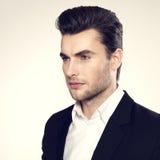 Face do close up de um homem de negócios da forma no terno Fotografia de Stock