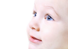 Face do fim agradável do bebê acima Imagem de Stock Royalty Free