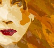 Face do fundo da mulher ilustração royalty free