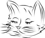 Face do gato ilustração do vetor