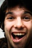 Face do homem de Screeming foto de stock