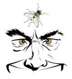 Face do homem dos desenhos animados Fotos de Stock Royalty Free