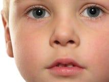 Face do menino Fotografia de Stock