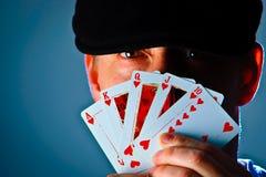 Face do póquer Imagens de Stock Royalty Free