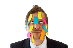 Face do post-it Imagens de Stock